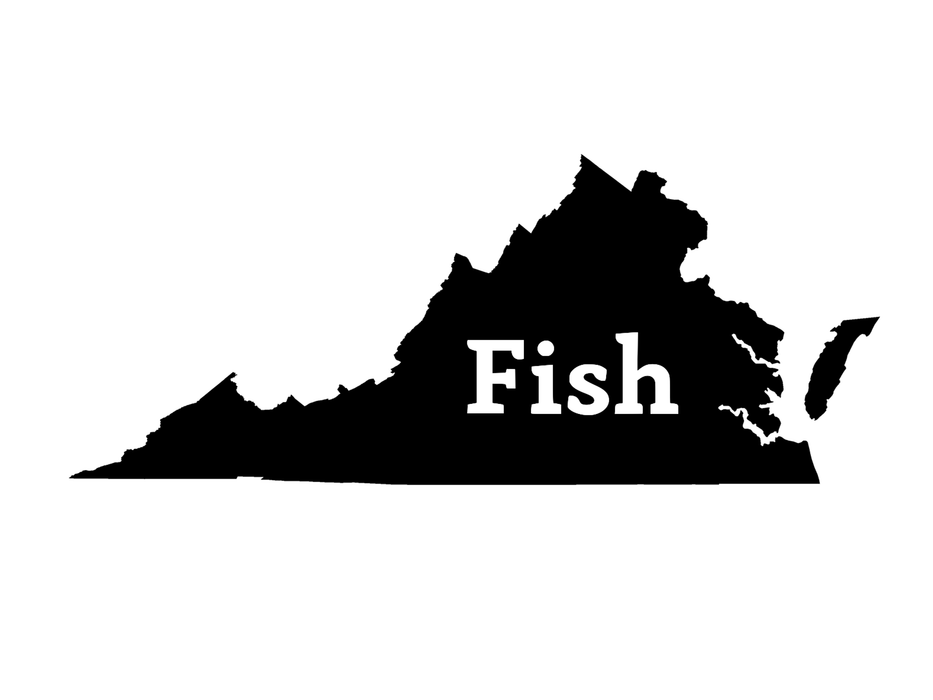 Fish Virginia Decal - Hunting and Fishing Depot
