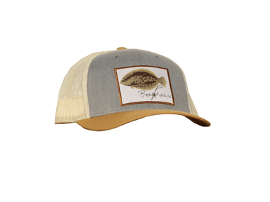 Flounder Tri-Colored Snap Back | Reel Addicts