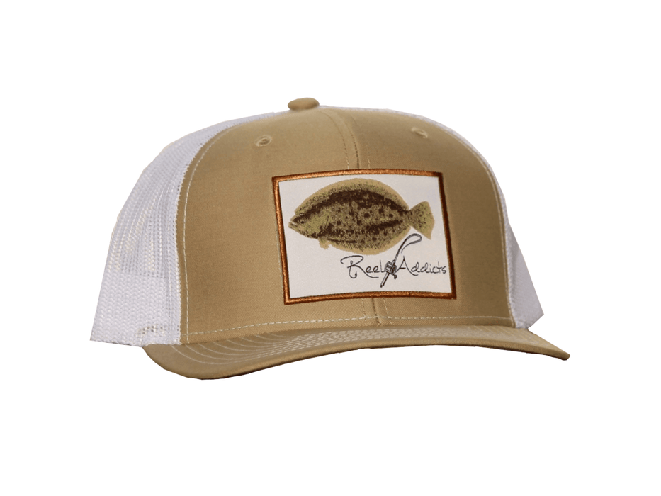 Flounder Tan Snap Back | Reel Addicts