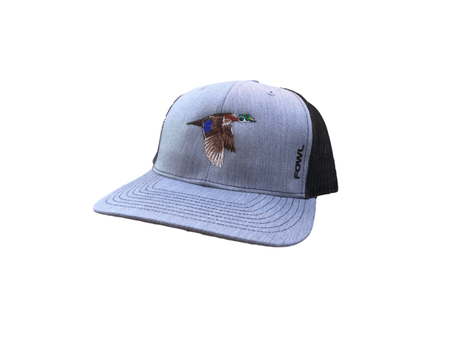 Heather Grey/Black Wood Duck Snapback | Fowl | Hunting and Fishing Depot