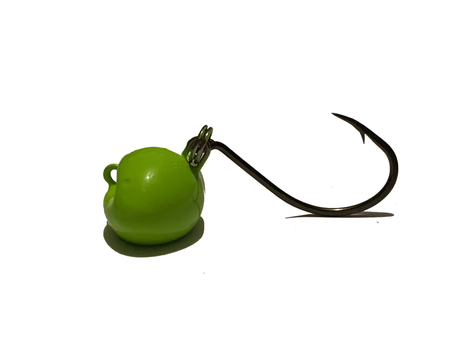 Green Chartreuse | Sheepshead Jigs with Split Rings - Hunting and Fishing Depot