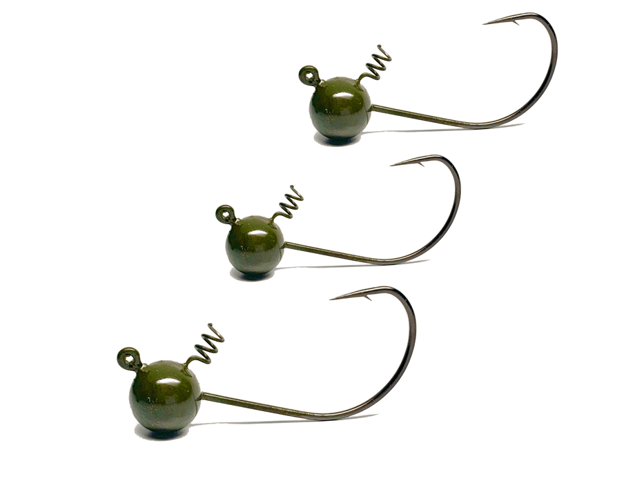 Largemouth Green Shaky Finesse Jigs | Screw Locks | Bass Jigs - Hunting and Fishing Depot
