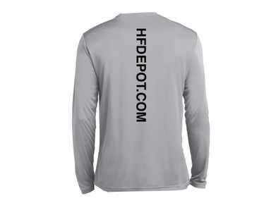 Grey Performance Shirt | Back | Hunting and Fishing Depot
