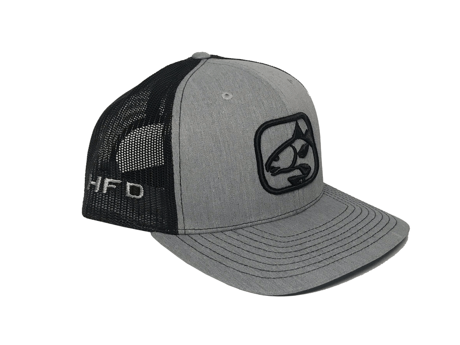 Heather Grey/Black Redfish Hat (Side) | HFD