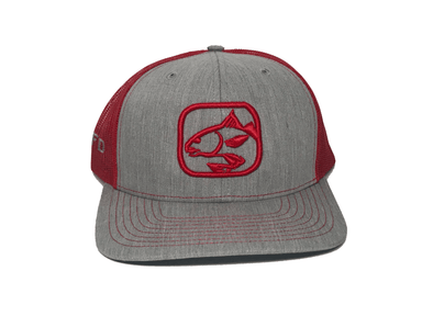 Heather Grey/Red Redfish Hat | HFD