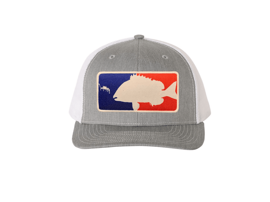 Heather Grey / White Major League Sheepshead Trucker Hat | Sheepshead Nation - Hunting and Fishing Depot