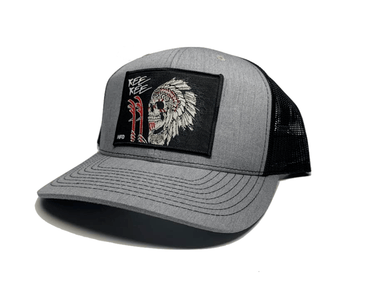Grey / Black Indian Chief Kee Kee Hat - Hunting and Fishing Depot