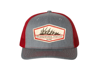 Heather Grey / Red Sheepshead Nation Hat - Hunting and Fishing Depot