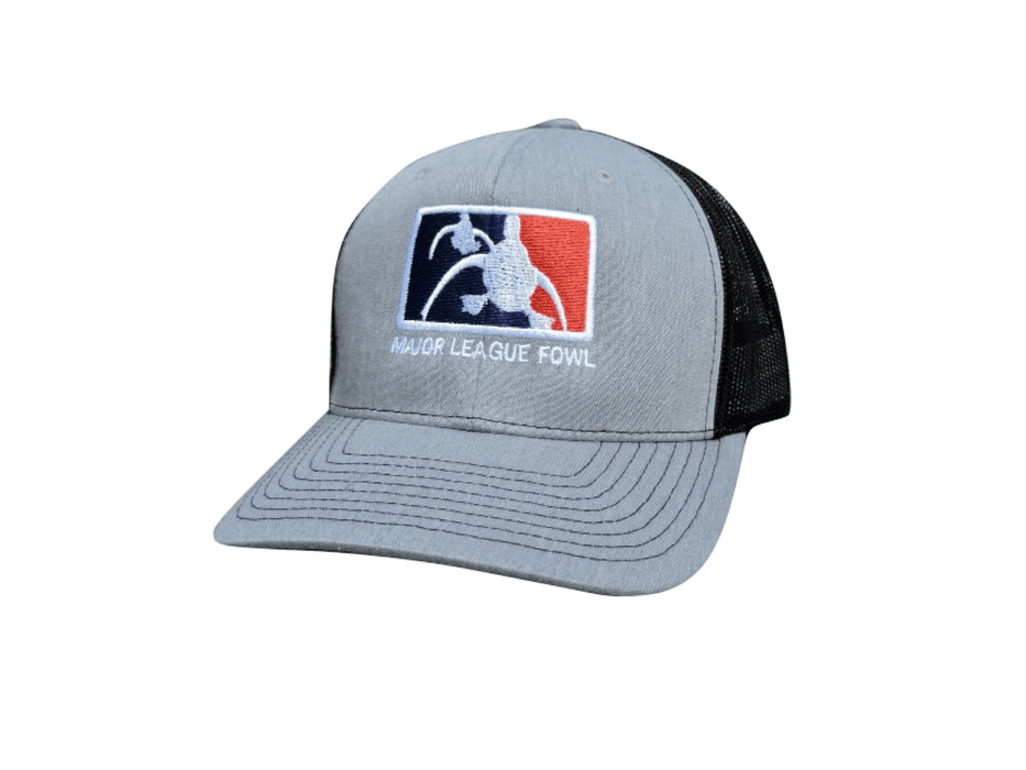 Heather grey/black ultimate logo trucker hat | Major league fowl