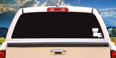 Hunt Louisiana Decal On Truck Back Window