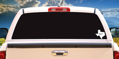 Hunt Texas Decal On Truck Back Window