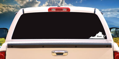 Hunt Virginia Decal On Truck Back Window