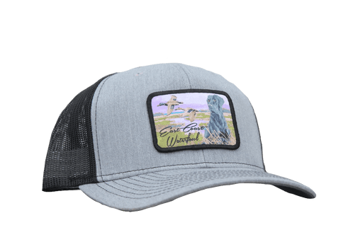 East Coast Waterfowl Heather Grey/Black Lab Hunting Dog Patch Snap back