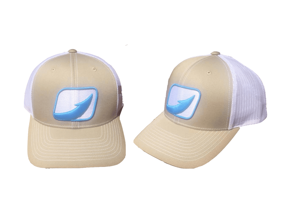 Hook Fishing Trucker Hats From Halocline Fishing Sand/White