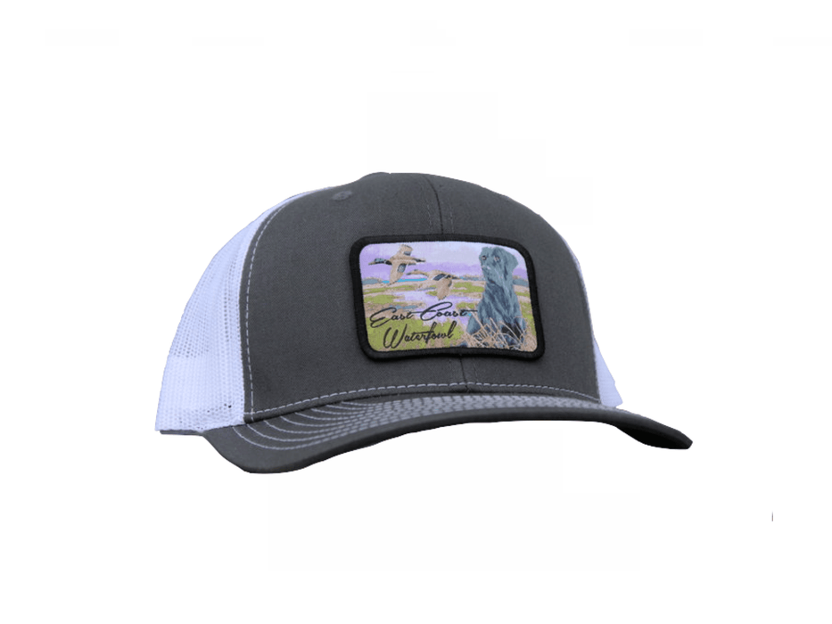 Black Lab Hunting Dog SnapBack Trucker Hat | East Coast Waterfowl - Hunting and Fishing Depot