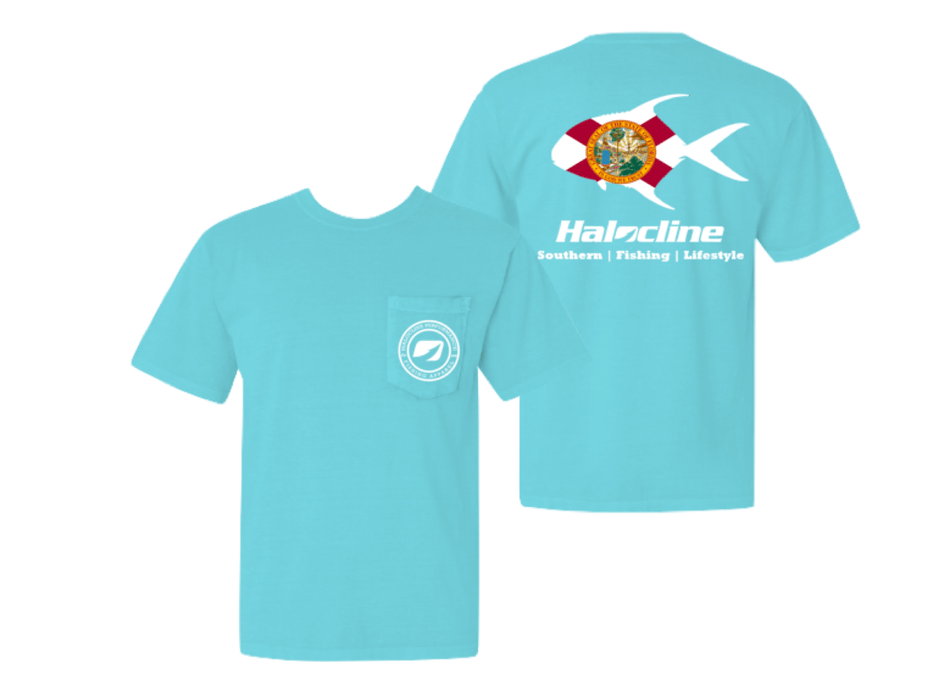 Florida Permit Fishing Pocket T-shirt from Halocline