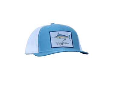 Marlin Snap Back | Columbia Blue/White | Reel Addicts