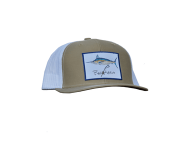 Marlin Snap Back | Khaki/White | Reel Addicts