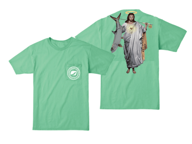 "Tarpon on the Fly With  Jesus ""The Ultimate Fisherman"" Pocket T-shirt - Hunting and Fishing Depot"