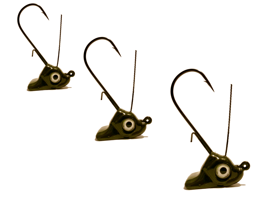Moss Green Ned Rig Stand Up Jig Head 3pk