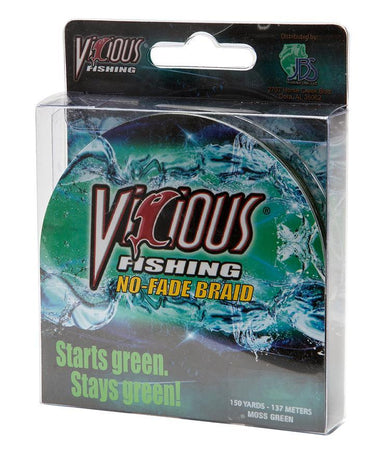 60 lb Vicious No Fade Braid Fishing Line - Hunting and Fishing Depot