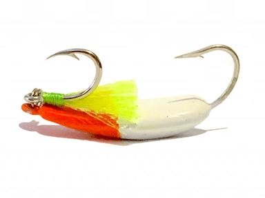 Candy Orange Pompano Jigs with Teasers - Hunting and Fishing Depot
