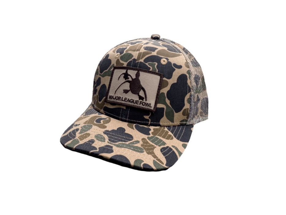 Old School Camo Patch Hat | Major League Fowl - Hunting and Fishing Depot