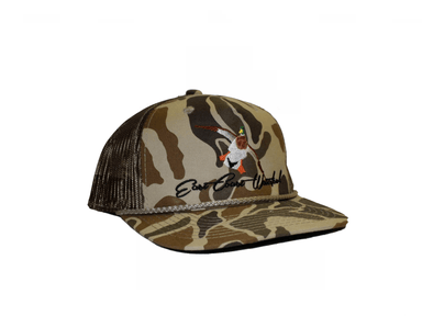 Old School Camo Mallard Trucker Snap Back | East Coast Waterfowl - Hunting and Fishing Depot