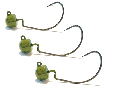 Peppered Pumpkin EWG Ned Rig Jig Heads 3pk