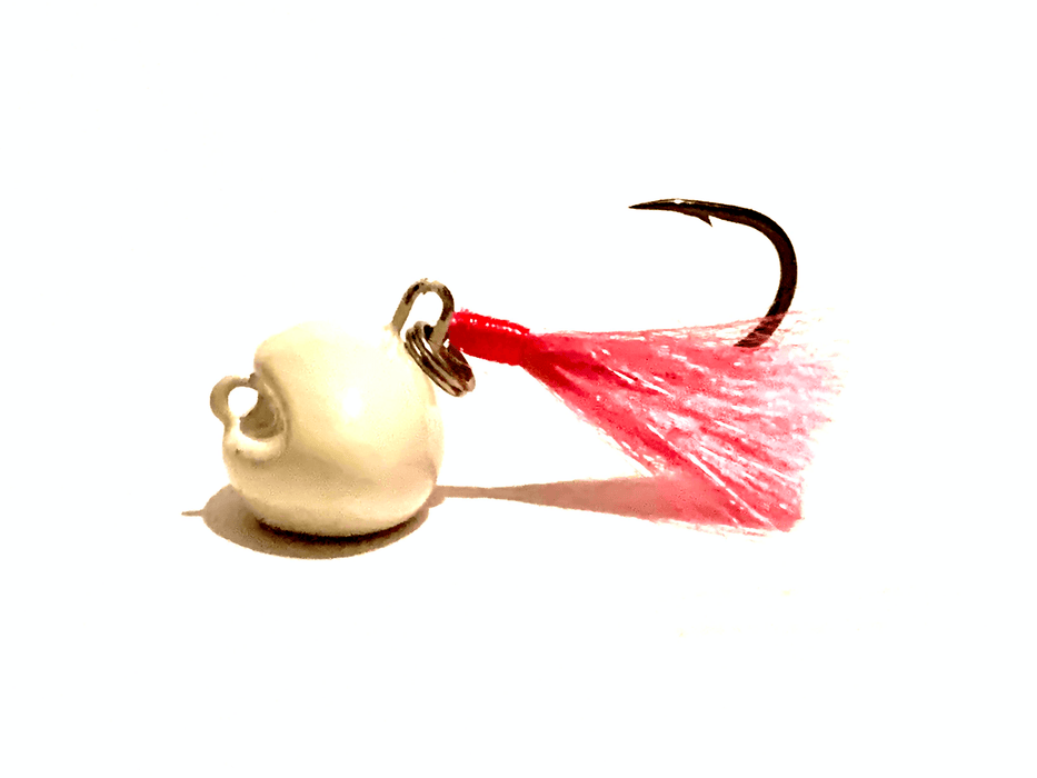 White / Pink Swinging Pompano Jigger Fleas - Hunting and Fishing Depot