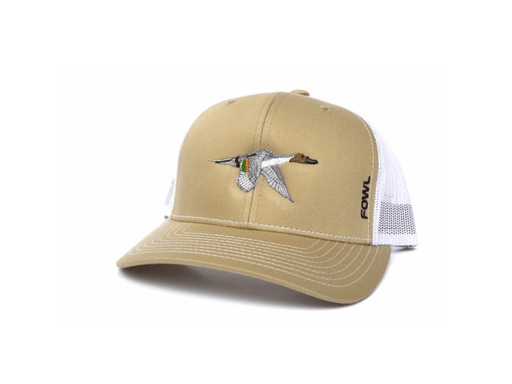 Khaki/White Pintail Snapback | Fowl | Hunting and Fishing Depot