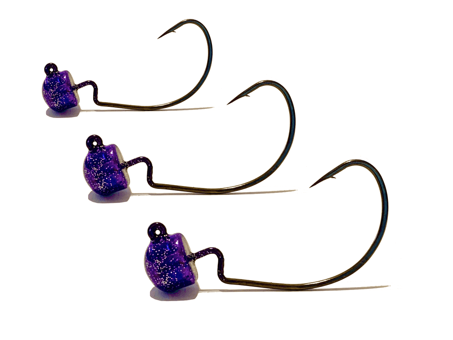 Purple Haze EWG Ned Rig Jig Heads 3pk