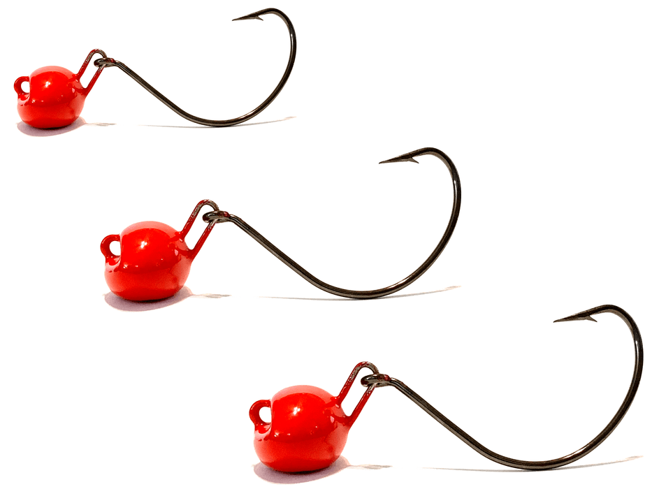 Red Live Bait Jigs 3pk