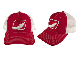 Hook Fishing Trucker Hats From Halocline Fishing Red/White