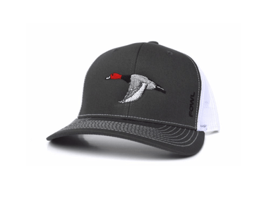 Charcoal/White Redhead Snapback | Fowl | Hunting and Fishing Depot