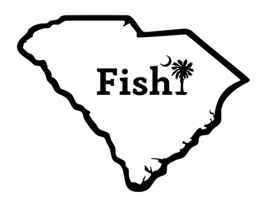 Fish South Carolina Palm Decal - Hunting and Fishing Depot