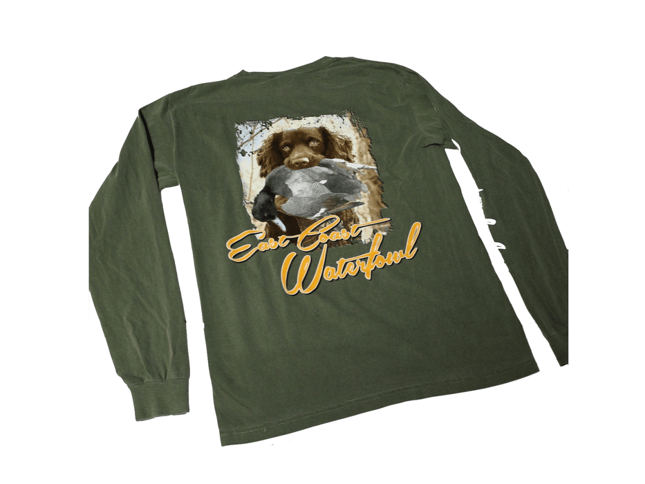 Boykin Spaniel Waylon | East Coast Waterfowl | Long Sleeve Shirt - Hunting and Fishing Depot