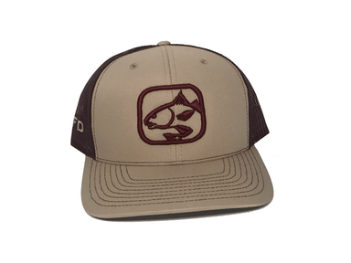Khaki/Maroon Redfish Hat | HFD