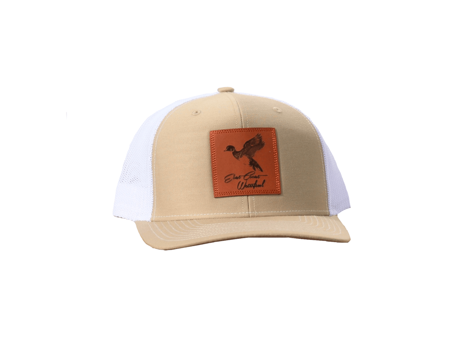 Wood Duck Leather Patch Trucker Hat | East Coast Waterfowl - Hunting and Fishing Depot
