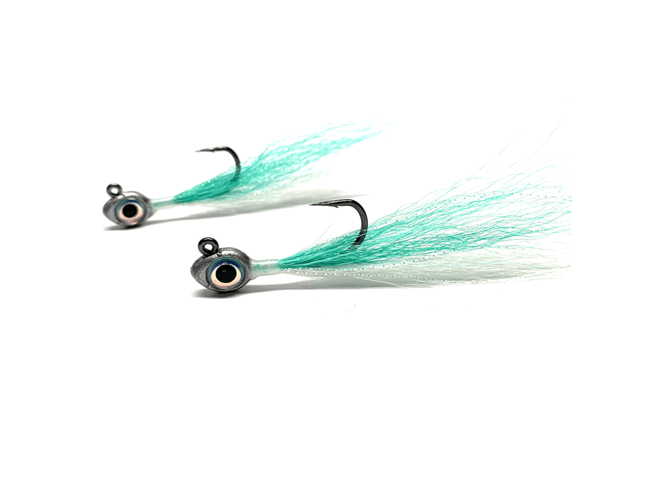 Teal Buckeye Jigs | Big Eye Bucktail Jigs - Hunting and Fishing Depot