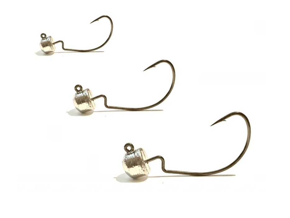 Unfinished EWG Ned Rig Jig Heads 3pk