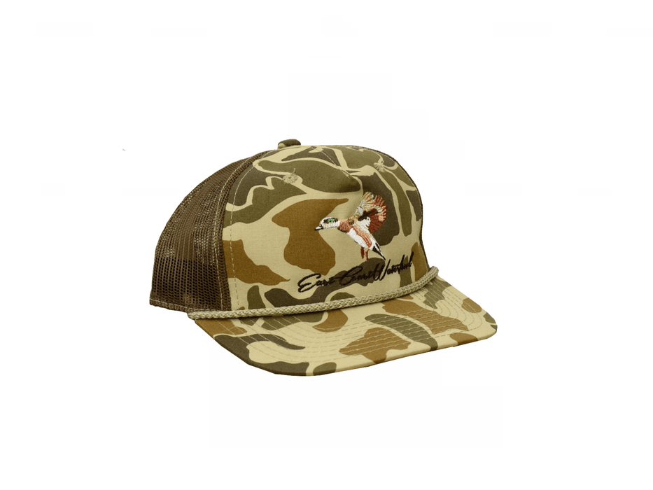 Old School Camo Wigeon Trucker Hat | East Coast Waterfowl - Hunting and Fishing Depot