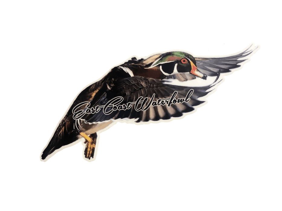 Flying Wood Duck Decal | East Coast Waterfowl - Hunting and Fishing Depot