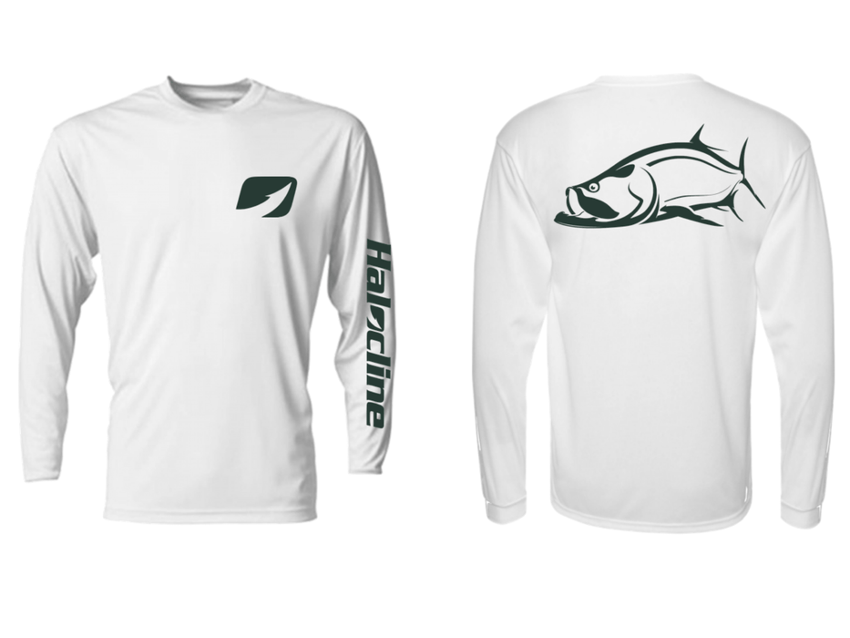 Tarpon Fishing Silver King Performance Shirt from Halocline - Hunting and Fishing Depot