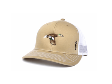 Khaki/White Wigeon Snapback | Fowl | Hunting and Fishing Depot