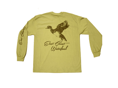 Army Green Wood Duck | East Coast Waterfowl | Long Sleeve Shirt - Hunting and Fishing Depot