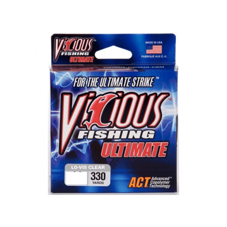 Vicious Ultimate Mono Fishing Line- 8 lb 330 Yards - Hunting and Fishing Depot