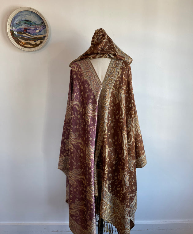 Sage and Spirit Print- In Faded Sky Blue - Made From Scratch Kimono Sweater One Size Fits All-Extra Long