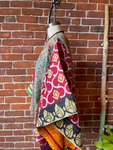 The Stevie Tunic- Black Embroidered Hi Low Hem Tunic with Pockets - One Size Fits up to 2XL