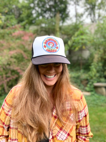Unisex Bertha Grateful Dead Steal Your Face Mesh Trucker Hat Baseball Cap One Size Fits Most